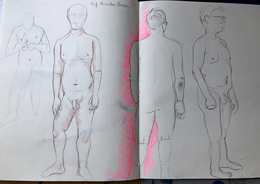 Blick ins Skizzenbuch