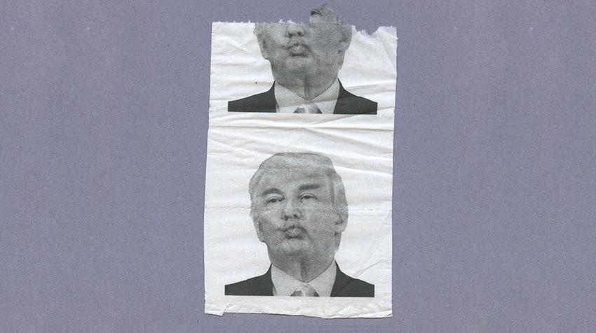 Klopapier mit Donald Trump