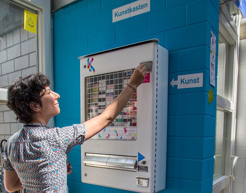 Einer der Kunstautomaten von Tatendrang-Design in Braunschweig