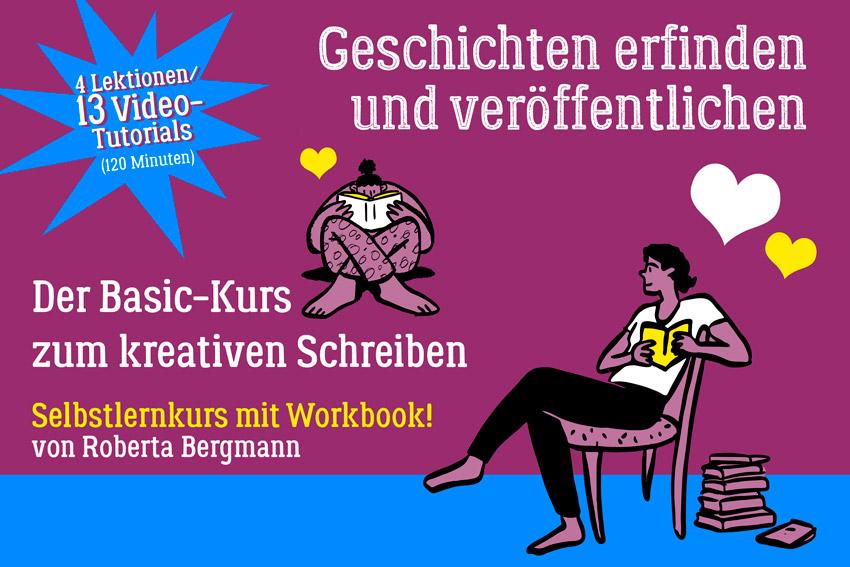 Onlinekurs Kreatives Schreiben, von Roberta Bergmann