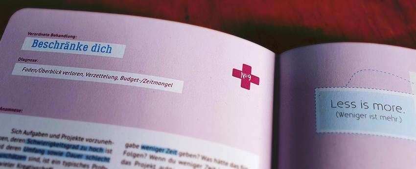 Buch, Kreativer Flow, Erste Hilfe, Beschränke Dich, Weniger ist mehr