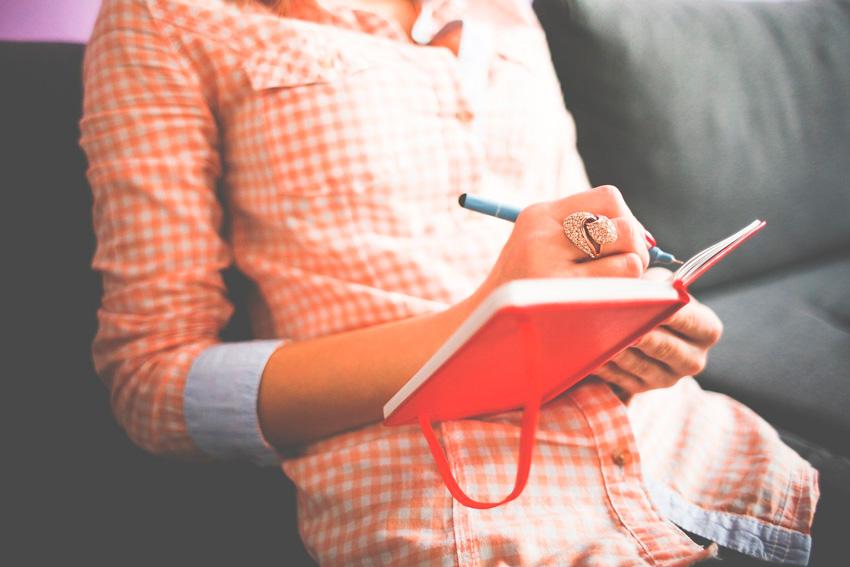 Tagebuch, Schreiben