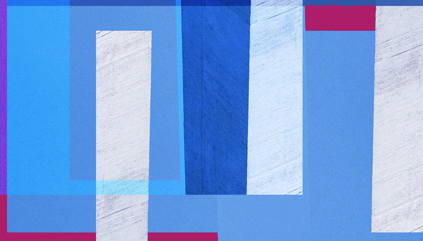 Reduzierte Farben - Violett und Blau